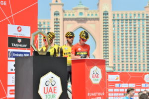 مرحباً (Marhaban!) from Stage 4 of the UAE Tour