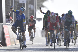 Sam Bennett wins Stage 6, of the UAE Tour Tadej Pogačar retains the Red Jersey
