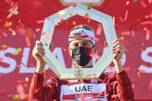 Tadej Pogačar brings the UAE Tour title home